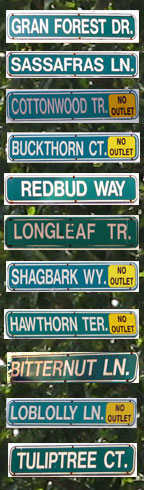 Neighborhood Street Signs